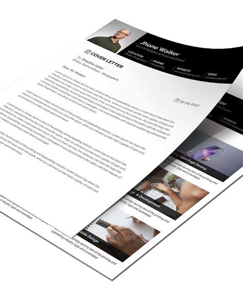 simple resume cv design template  cover letter