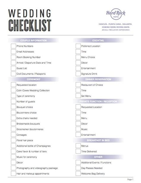 Wedding Checklist To Do List by 17 Best Images About Destination Wedding Checklist On