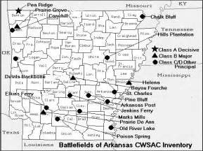 civil war battles in map arkansas civil war map of battles american