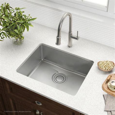 Kraus Usa Sinks by Kraus Kd1us25b 25 Inch Undermount Single Bowl Kitchen Sink
