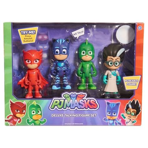 pj masks figures pj masks deluxe talking figure set target