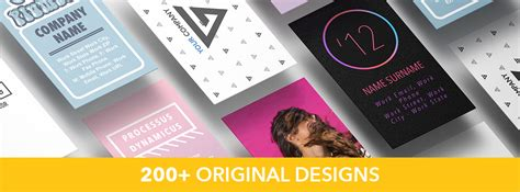 200 Business Card Templates Bundle by Gn Business Cards For Pages Templates Bundle Discounted