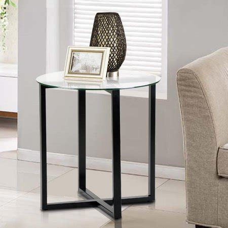Glass Table Ls For Bedroom by Yaheetech End Side Table Glass Top Coffee Sofa Table