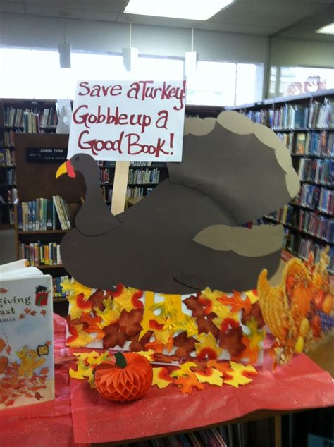 save a turkey gobble up a good book library ideas pinterest good books thanksgiving and