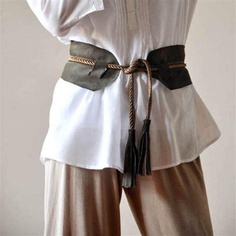 diy leather belts w tassels