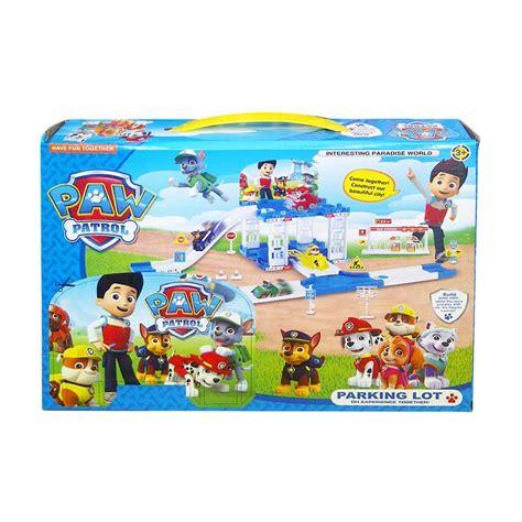 Mainan Anak Paw Patrol Zy 596 Parking Lot Play Set Marsha 1 harga spesifikasi tmo paw patrol parking lot zy 597 biru