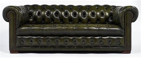 Green Chesterfield Sofa For Sale Green Leather Vintage Chesterfield Sofa For Sale At 1stdibs