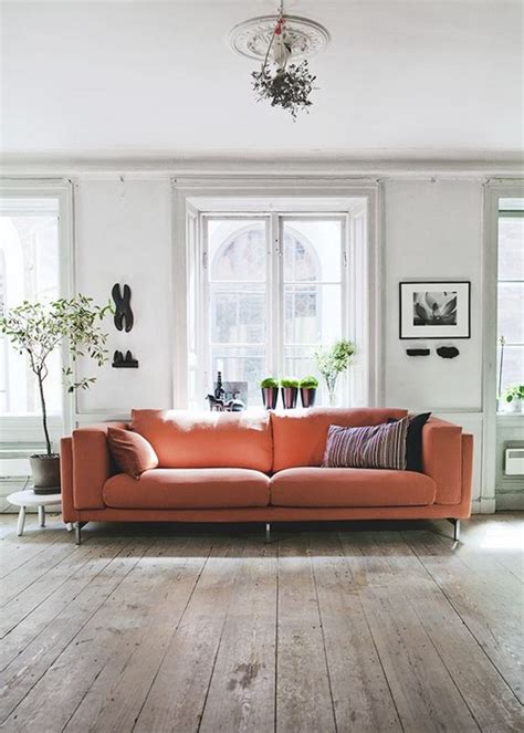 orange sofas living room 23 living rooms with bold orange sofas messagenote
