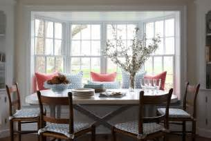 Dining Room Bay Window by Ladder Back Chairs Transitional Dining Room Kerry