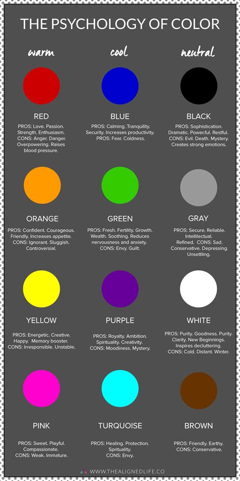 psychology colors the changing power of color psychology the aligned
