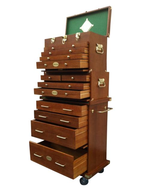 pro tools wooden tool box chest wood cabinet engineer
