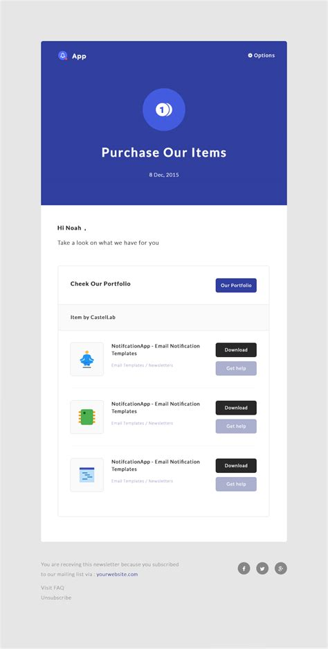 Notificationapp Responsive Notification Email Html Templates By Castellab Html Email Notification Template