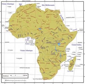 carte g 233 ographie physique de l afrique