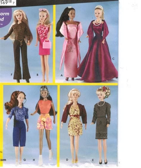 clothes pattern shops simplicity pattern 7073 fashion doll wardrobe for barbie