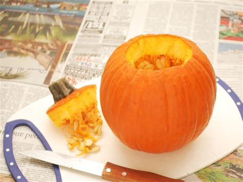 how to cut pumpkin how to cut a pumpkin 5 steps with pictures wikihow