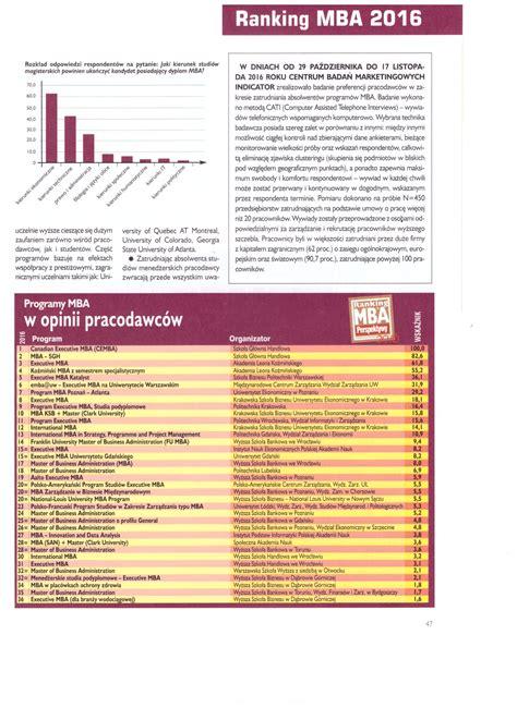 Cbm Mba by Absolwent Program 243 W Mba W Opinii Pracodawc 243 W Cbm Indicator