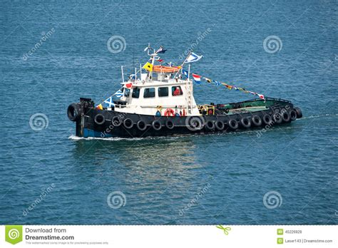 boat salvage business tow boat stock photo image 45226828