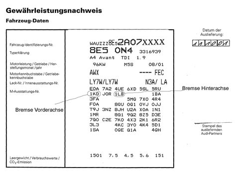 Audi Pr Nummer by Pr Nummer Vw Bremsen G 252 Nstig Auto Polieren Lassen