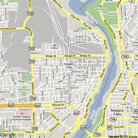 map of hotels in niagara falls canada map of niagara falls canada hotels accommodation