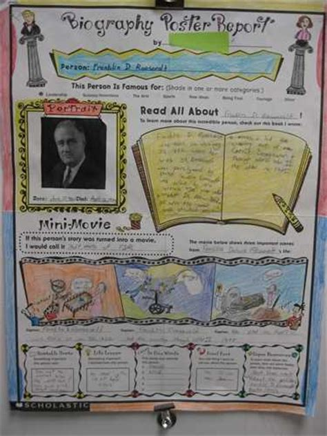 biography for middle school students below wanted poster book report banner