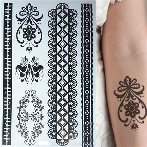henna tattoo bracelet designs aliexpress buy new design of waterproof black lace