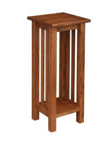 Amish mission plant stand end table