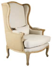 Linen Wingback Chair Design Ideas Country High Back Linen Wing Chair Farmhouse Armchairs And Accent Chairs Other