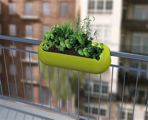 Railing Planter Box by Balconismo Railing Planter Box Fuses Vibrancy With