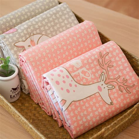 diy patchwork 40 50cm zoo deer rabbit fox cat sheep twill printed cotton fabric diy patchwork sewing baby