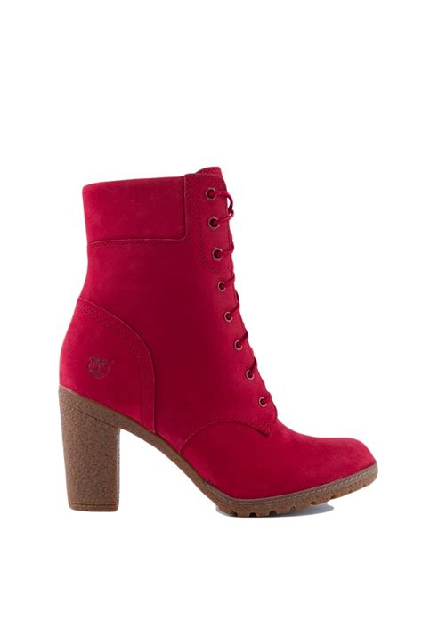 timberland glancy   boots  red