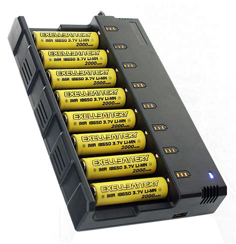 Charger Slot Batre 18650 8 slot smart charger with 8 3 7v 2000mah li mn 18650 imr