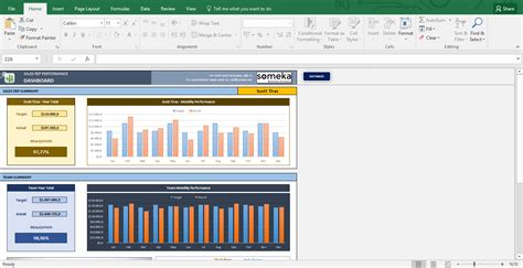 Salesman Performance Tracking Excel Spreadsheet Template Performance Template Excel