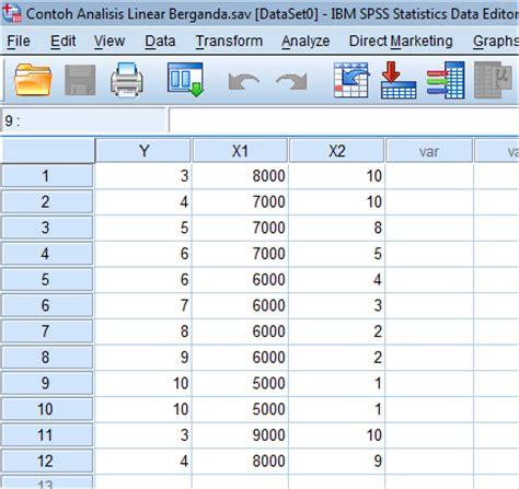 Analsis Regresi Linear Ganda Dengan Spss contoh analisis regresi linear berganda dua variabel menggunakan ibm spss 21 jam statistic