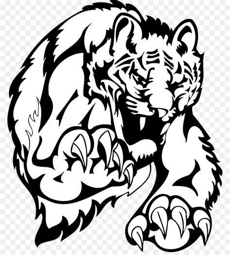 gambar harimau kartun hitam putih gambar terbaru hd