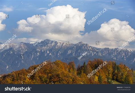 sunny day in the mountains a mountain of the alps switzerland before autumn foliage on a sunny day in the mountains stock photo