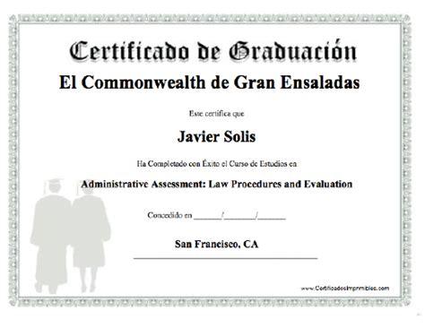 diplomas de graduacion para imprimir gratis certificado de graduaci 243 n escuela de turismo de la costa