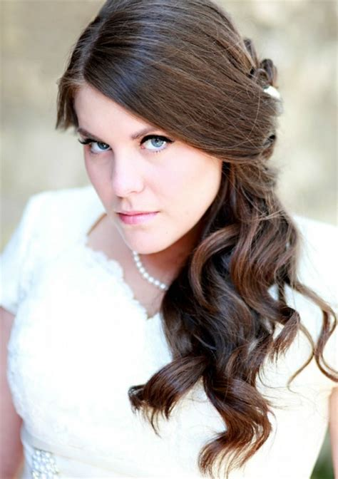 wedding shower hair styles side ponytail bridal shower hairstyles pinterest