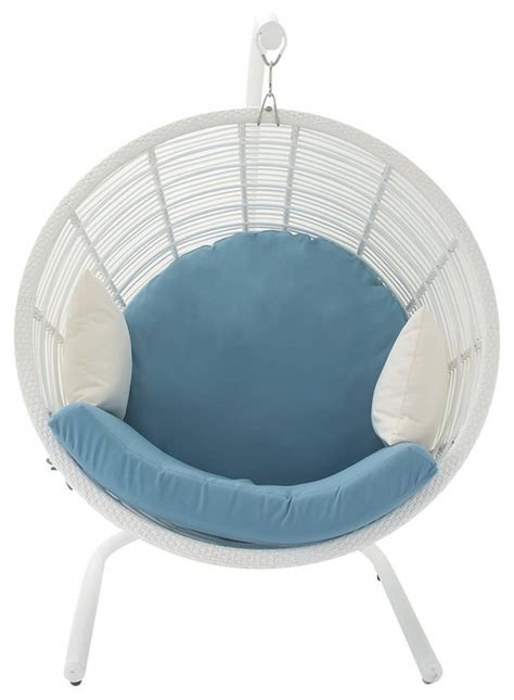Outdoor Pod Chair by Aluminum Pe Rattan Pod Chairs 48 Quot X70 Quot