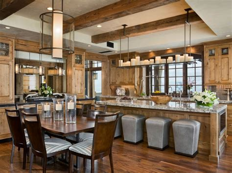 Rustic Kitchen Sets by Rustic Hickory Cabinets Kitchen New Lighting Rustic