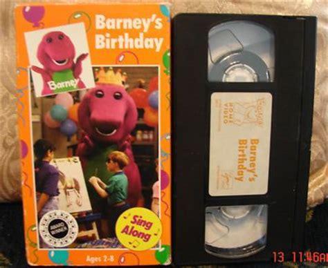 Barney Backyard Vhs by Barney Barneys Birthday Vhs 1992 Birthdays