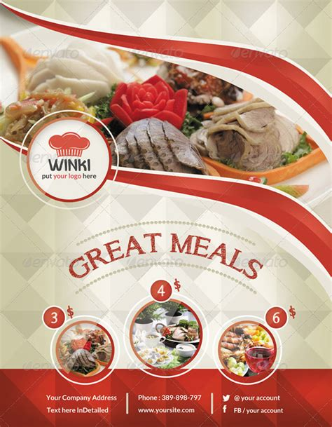 free food flyer templates 20 delicious looking restaurant flyer templates