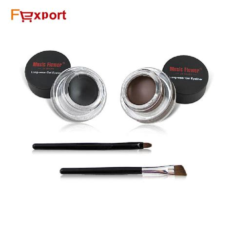 Sale Eyeliner Eyebrow 2in1kiss Beuty Gel amazing 2 coffee black waterproof gel eyeliner