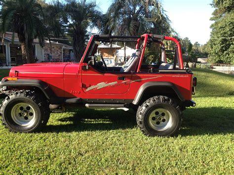 jeep chevrolet 1992 jeep wrangler base sport utility 2 door 350 chevy