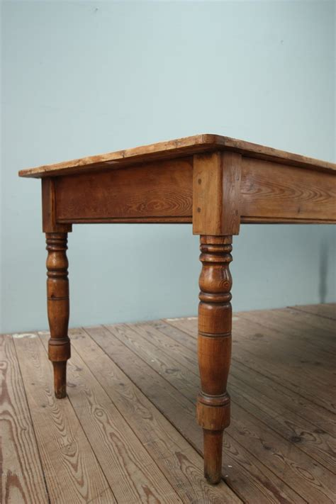Vintage Pine Dining Table Large Antique Pine Dining Table Antiques Atlas