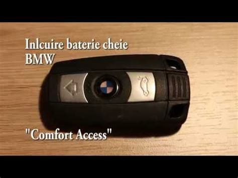 bmw comfort access key bmw comfort access key battery replacement youtube
