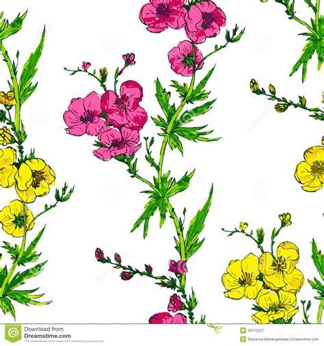 rami di fiori modello senza cuciture di vettore con i rami dei fiori