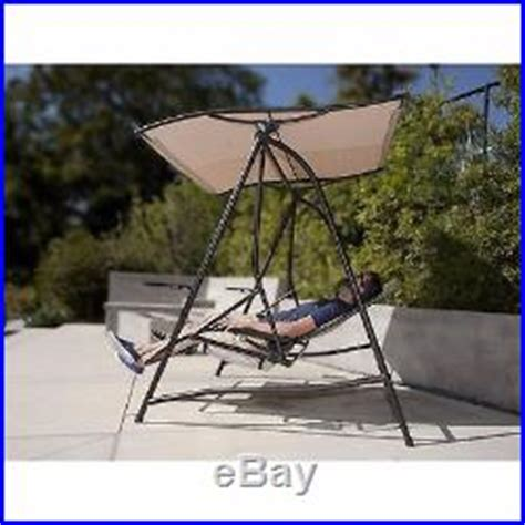 Reclining Patio Swings With Canopy by Canopy Lounge Swing Adjustable Recliner Seats Tray