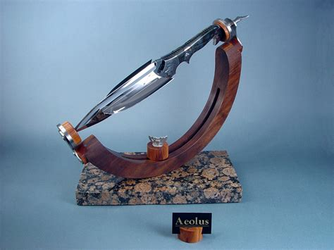 """Aeolus"" fine handmade custom art knife by Jay Fisher"