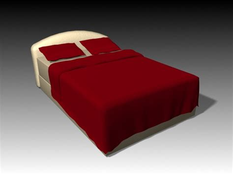 double bed  red bed sheet  model dsmax files