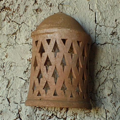 Terracotta Wall Sconces moroccan terracotta wall sconce handmade in morocco